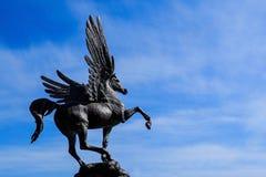 Petersburg Rosja 05 27 2018 Rzeźba koński pegaz Obrazy Stock