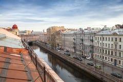 petersburg Rosji st Griboyedov kanału bulwar Fotografia Royalty Free