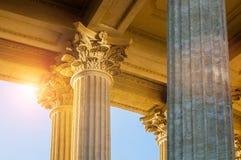 petersburg Rosji st Kazan Katedralna kolumnada w St Petersburg - zbliżenie widok obraz stock