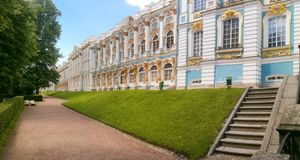 Petersburg, Rusland - Juni 29, 2017: Het Paleis van Katherine ` s in Tsarskoe Selo Pushkin Royalty-vrije Stock Foto's