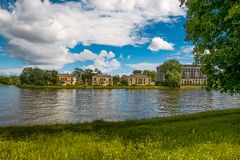 Petersburg, Russia - July 2, 2017: Divo-island. Elite private houses near the water. Near Stock Photography