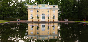 Petersburg, Russia - June 29, 2017: Tsarskoe Selo. House by the pond. Stock Photo
