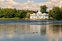 Petersburg, Russia - June 29, 2017: Tsarskoye Selo. The Hermitage pavilion in the Catherine Park. Royalty Free Stock Photography