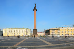 Palace square in Petersburg, Russia. Stock Images