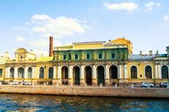petersburg russia st Salt stad - ett komplex av byggnader i mitten av St Petersburg arkivbild