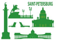 petersburg sainthorisont vektor illustrationer