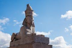 Petersburg Sphinxes. Sphinxes in St. Petersburg on the University embankment of the river Neva Stock Photo