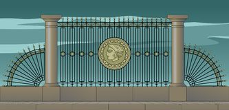 Petersburg spisgaller, stylization Royaltyfria Bilder