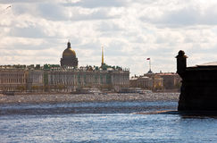 Petersburg. A view on the Hermitage Stock Photos