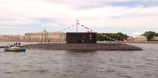PETERSBURGO EL 26 DE JULIO: Desfile naval. Panorama Imágenes de archivo libres de regalías