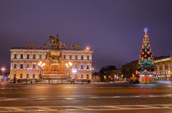 Petersburgo, Rússia no Natal Imagem de Stock