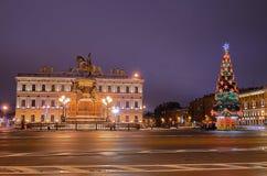 Petersburgo, Rusia en la Navidad Imagen de archivo