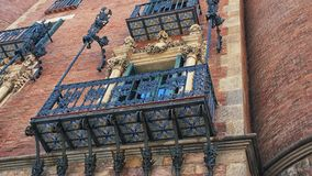 Petersburgu balkonowy st Rosji rocznik Obrazy Royalty Free