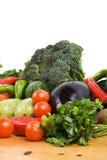Peterselie en verse groenten Stock Afbeeldingen