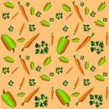 Peterselie, peper, wortelen vector illustratie