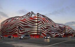 Petersen automatiskt museum i Los Angeles, CA arkivbilder
