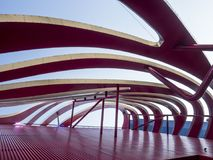 Petersen Automotive Museum facade on the August 12th, 2017 - Los Angeles, CA stock image