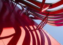 Petersen Automotive Museum facade on the August 12th, 2017 - Los Angeles, CA stock photo