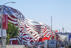 Petersen Automotive Museum in Los Angeles - LOS ANGELES - CALIFORNIA - APRIL 20, 2017 royalty free stock images