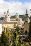 Petersfriedhof and Cathedral. Salzburg. Austria Stock Photo