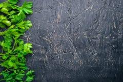 Petersilie Auf einem hölzernen Hintergrund Lizenzfreies Stockfoto
