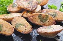 Petersilien-Blatt-Kartoffel Lizenzfreie Stockfotos