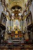 Peterskirche intérieur à Vienne Image stock