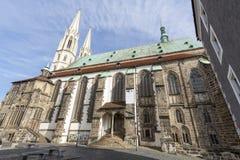 Peterskirche kościół w Goerlitz, Niemcy Wschodnie Obrazy Stock