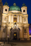 Peterskirche or St. Peters Church facade Royalty Free Stock Photography