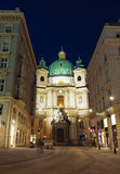 The Peterskirche ( St. Peters Church ) at night Royalty Free Stock Photo