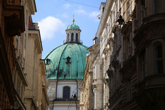 The Peterskirche (St. Peters Church) in Vienna, Austria. Royalty Free Stock Image