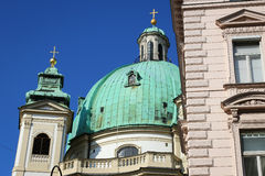 The Peterskirche (St. Peters Church) in Vienna, Austria. Royalty Free Stock Photo