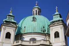 The Peterskirche (St. Peters Church) in Vienna, Austria. Stock Photos