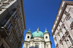 The Peterskirche (St. Peters Church) in Vienna, Austria. Royalty Free Stock Images