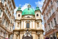 Peterskirche, Wenen, Oostenrijk royalty-vrije stock foto's