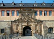 Peterstor, de citadel van Petersberg, Erfurt, Duitsland Stock Foto