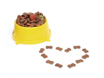 Petfood bowl Royalty Free Stock Photography
