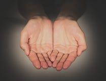 Petición de las manos foto de archivo libre de regalías