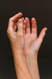 Petición de las manos, primer fotografía de archivo libre de regalías