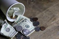 Petición del dinero de la moneda fotografía de archivo