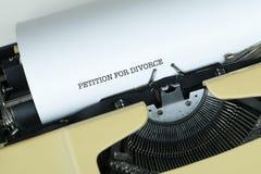 PETICIÓN PARA EL DIVORCIO Fotografía de archivo