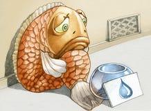 Petición un descenso del agua stock de ilustración