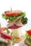 Petisco claro - sanduíche do queijo Fotografia de Stock Royalty Free