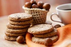 Petisco com cookies e café imagem de stock royalty free
