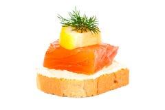 Petisco com peixes e limon Imagem de Stock Royalty Free