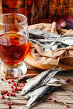 Petisco da fritura de peixe secada Fotografia de Stock Royalty Free