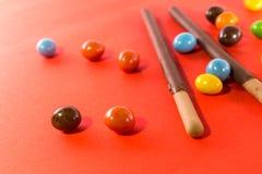 Petisco da sobremesa no fundo cor-de-rosa Fotos de Stock