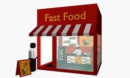 Petisco do fast food com figuras Fotografia de Stock Royalty Free