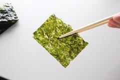 Petisco friável profundo de Fried Green Seaweed Thin Chips do nori imagens de stock royalty free