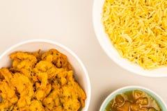 Petisco indiano do estilo de Fried Onion Bhajis Imagens de Stock